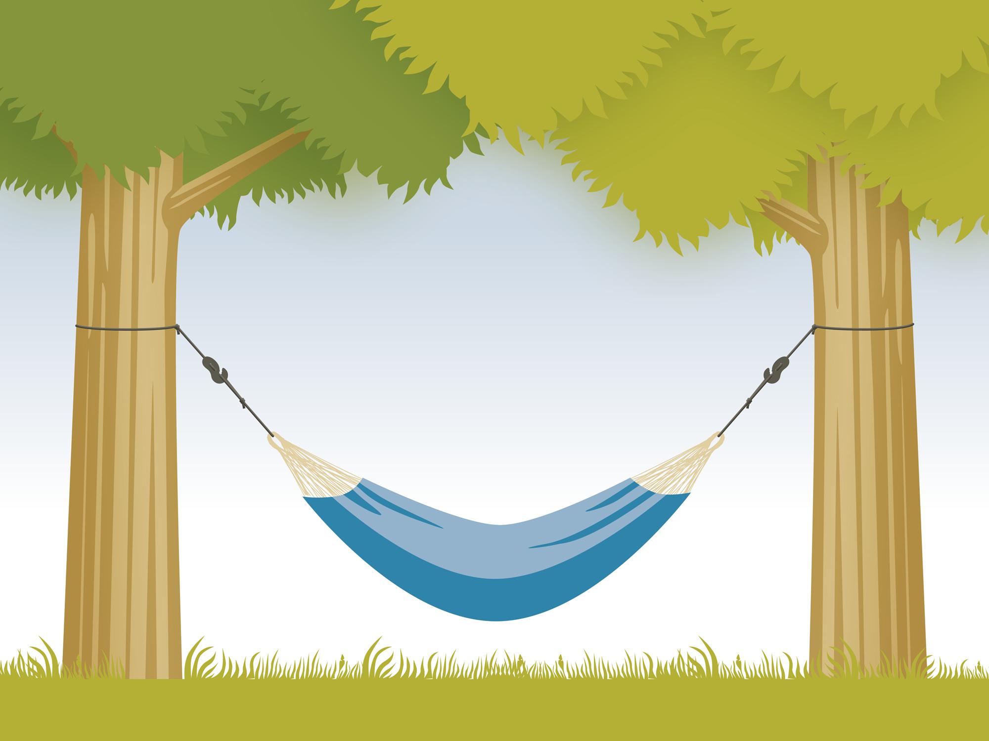 illustration af hængekøje-ophængt